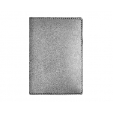 garnet passport cover - silver