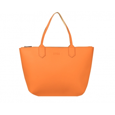 zippy large tote bag - tangarine