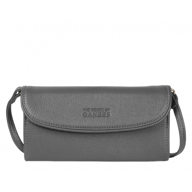 norland clutch - charcoal