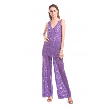 Lavender Lace Pants & Top