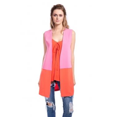 Orange & Pink Top