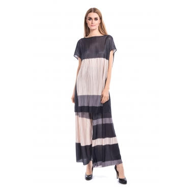 Pleated Texture Tunic With Matching Top