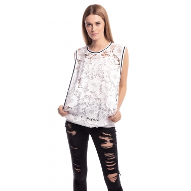 Lace Crochet Top with inner