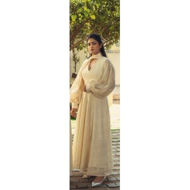 Cream Crochet Maxi Dress 1