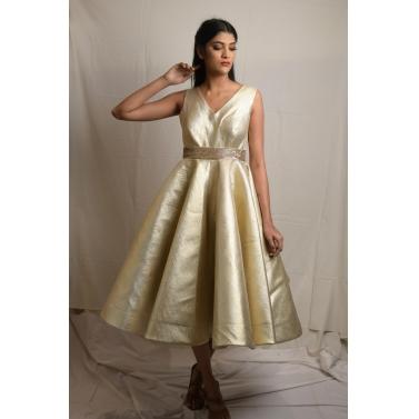 Gold Tissue Dress
