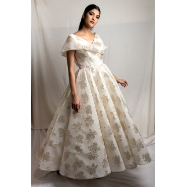 Off Shoulder Organza Gown