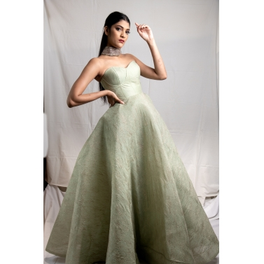 Mint Green Strapless Gown