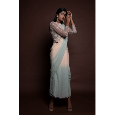 Shaded Drape Saree