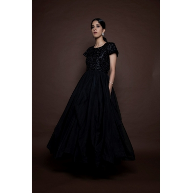 Black Layered Gown