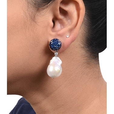 designer-womens-wear/blue-sapphire-invisble-setting-top-with-baroque-pearl-drop