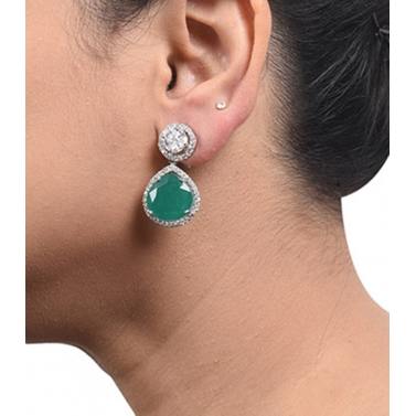 designer-womens-wear/fused-solitaire-top-with-pear-emerald-drop