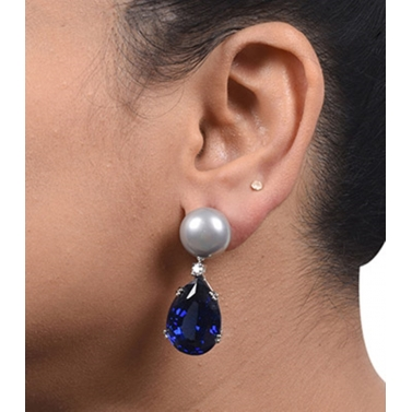 designer-womens-wear/grey-cultured-pearl-top-with-pear-blue-sapphire-drop