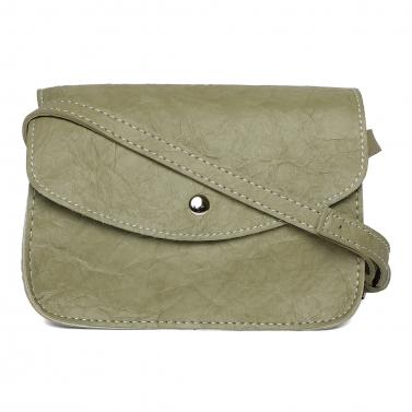 Green Wrinked Crossbody Bag