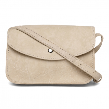 Apricot Wrinked Crossbody Bag