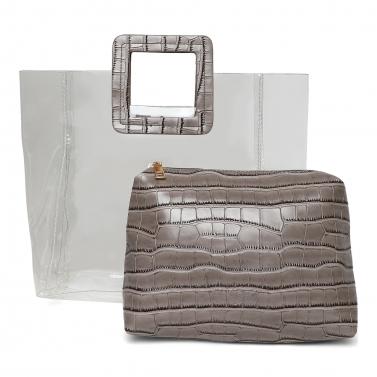Transparent Grey Hand Bag