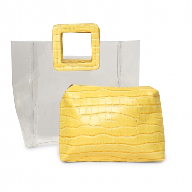 Transparent Yellow Hand Bag