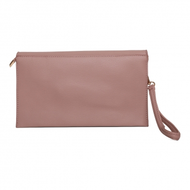 Gold Chain Pink Side Sling & Clutch