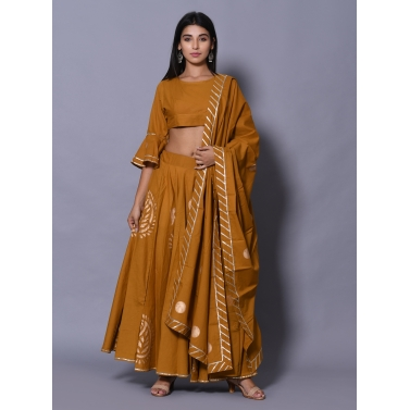 Mustard 3 Pc Lehenga Set