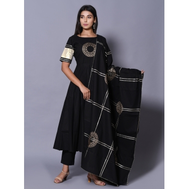 Black 3 Piece Kurta Set