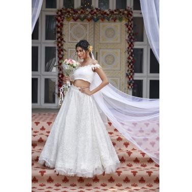 White Lace Lehenga