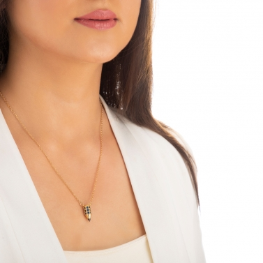 18K Gold Plated Petit Pencil Necklace