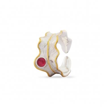 Pink Tourmaline Luna Ring
