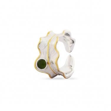Green Tourmaline Luna Ring