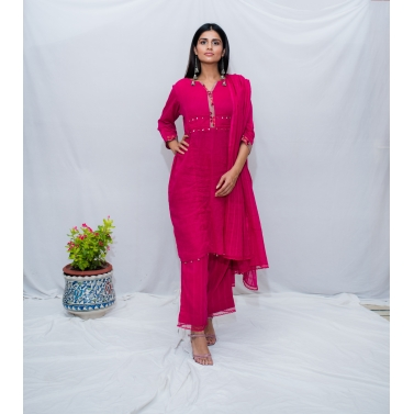 Hot Pink Kurta Set