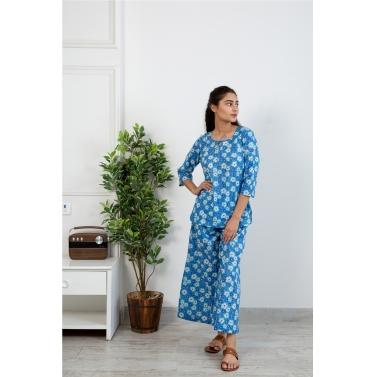 Neela phool Loungewear set