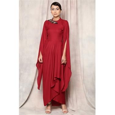 CASCADE  FLORAL DRESS
