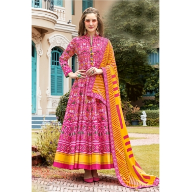 designer-womens-wear/designer-anarkali-suits-kalidar/pink-patola-anarkali-suit