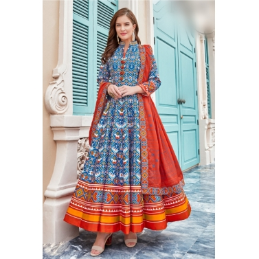 designer-womens-wear/designer-salwar-kameez/abstract-blue-anarkali-suit