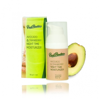 Paul Penders Avocado & Cranberry Night Time Moisturizer - 30g