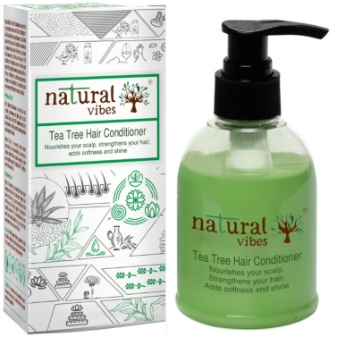Natural Vibes ~ Ayurvedic Tea Tree Hair Conditioner 150 ml  ~ Nourishes your scalp, strengthens your