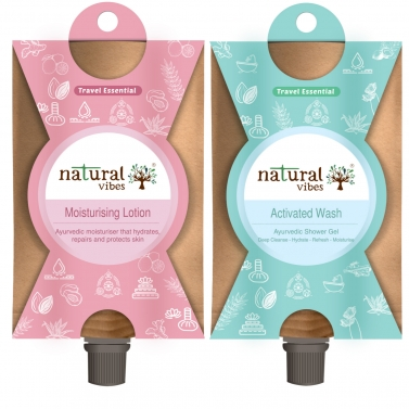 Natural Vibes ~ Must Have's Travel Kit  ~ with Shower Gel and Moisturising Lotion ( 30 ml each, tota