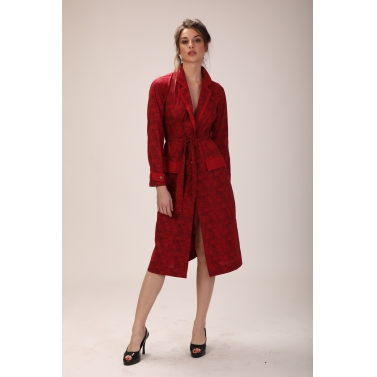 wide collar wrap coat