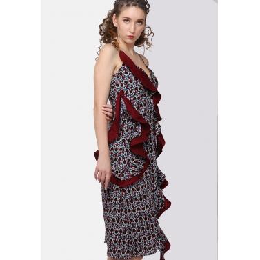 Petalled slip dress