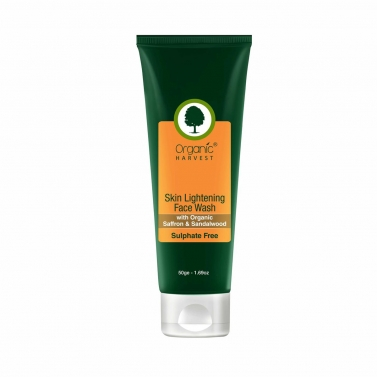 Organic Harvest Face Wash - Skin Lightening (Sulphate Free), 50gm