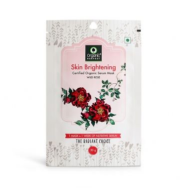 Organic Harvest Skin Brightening Face Sheet Mask, 20gm