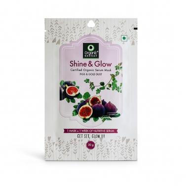 Organic Harvest Shine & Glow Face Sheet Mask, 20gm