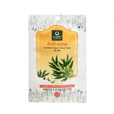 Organic Harvest Anti-Acne Face Sheet Mask, 20gm