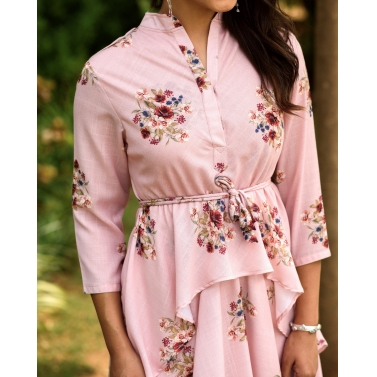 CARNATION PINK DHOTI KURTI DRESS
