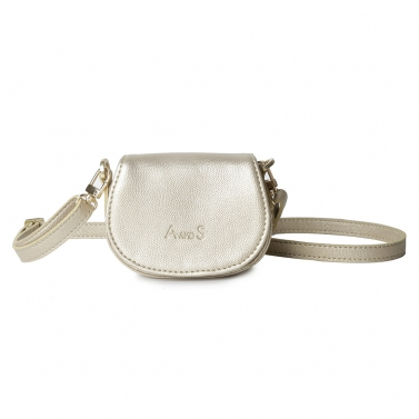 Mini Purse with Sling Light Gold