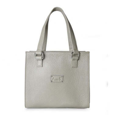 Square Leather Handbag with Sling