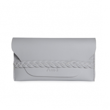 Wallet with Braided Detail Grey