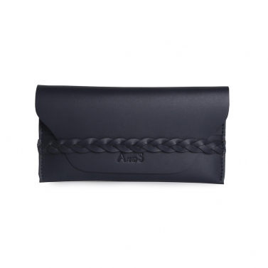 Wallet with Braided Detail Blue