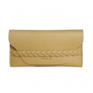 Wallet with Braided Detail Tan