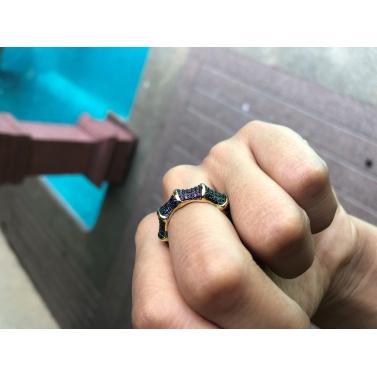 18K Gold Plated Revolve Ring