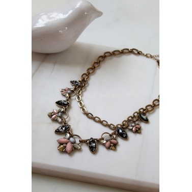 2 Layer Flower Necklace