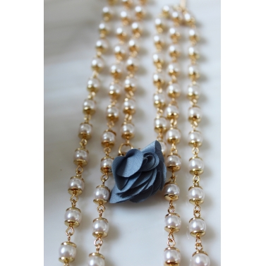 3 Layer Pearl Tiana Necklace